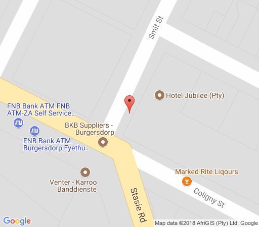 Map Jubilee Hotel in Burgersdorp  Drakensberg (EC)  Eastern Cape  South Africa
