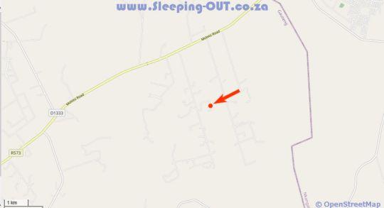 Map Deruxa Cottages in Cullinan  Pretoria North  Pretoria / Tshwane  Gauteng  Afrique du Sud