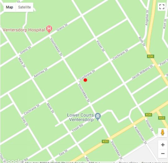 Map DocVilla Guesthouse in Ventersdorp  Southern (NW)  North West  South Africa
