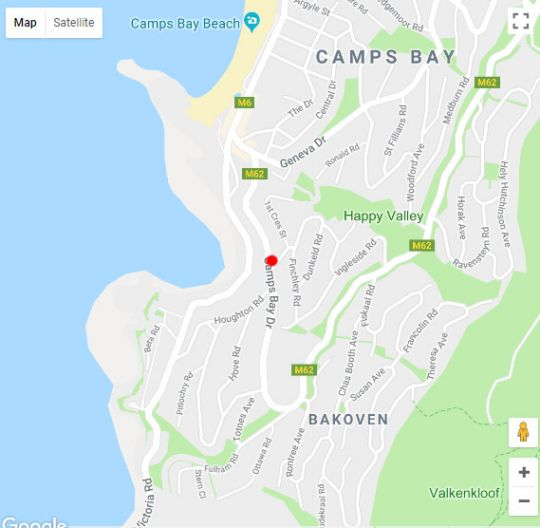 Map Indigo Bay Luxury Stay in Camps Bay  Atlantic Seaboard  Cape Town  Western Cape  South Africa