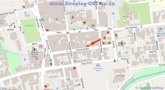 Map Avemore Eikehof No 26 in Stellenbosch  Cape Winelands  Western Cape  South Africa