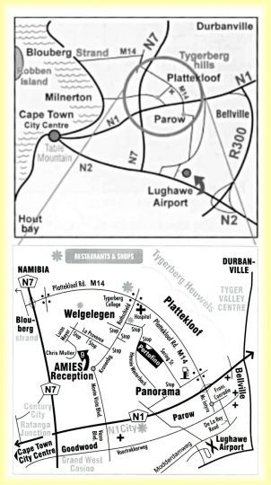 Map Amies Self-Catering Apartments in Parow  Northern Suburbs (CPT)  Cape Town  Western Cape  South Africa