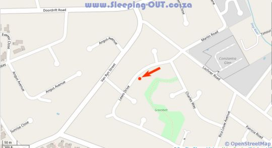 Map Pinoak Cottage Constantia in Constantia (CPT)  Southern Suburbs (CPT)  Cape Town  Western Cape  South Africa