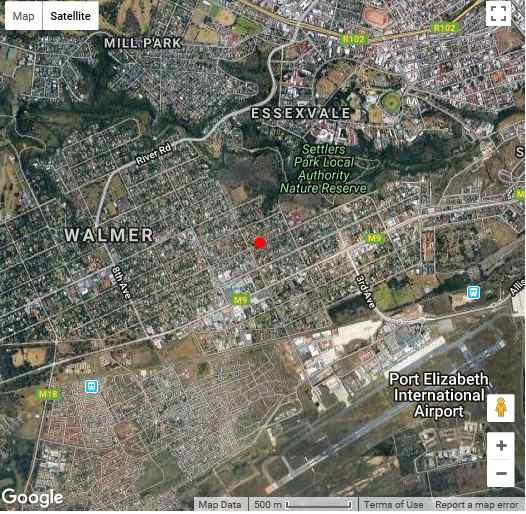 Map Spacious Garden Unit on Fordyce in Walmer  Port Elizabeth  Cacadu (Sarah Baartman)  Eastern Cape  South Africa