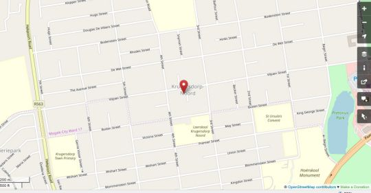 Map Krugersdorp Self-catering Guest House in Krugersdorp North  Krugersdorp  West Rand  Gauteng  South Africa