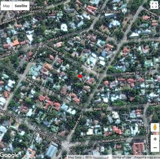 Map Gan Eden Guest Cottage  in Bela Bela  Bushveld  Limpopo  South Africa