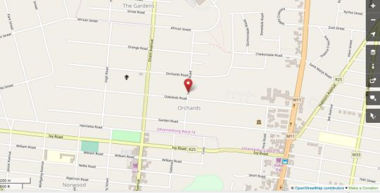 Map Sunnyside Suites in Norwood  Sandton  Johannesburg  Gauteng  South Africa