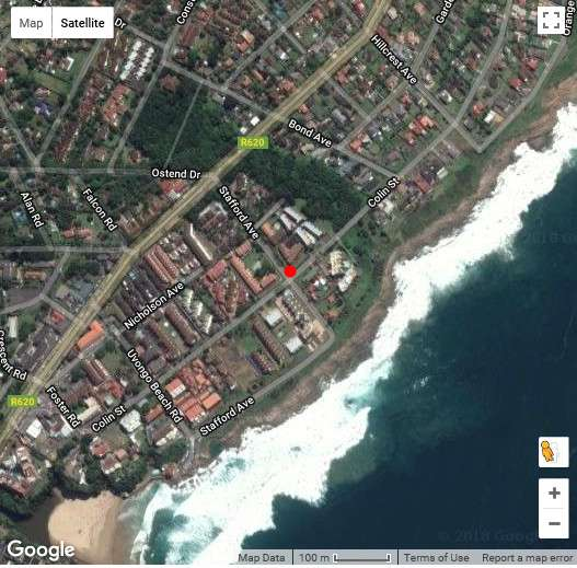 Map Saints View in Uvongo  South Coast (KZN)  KwaZulu Natal  South Africa