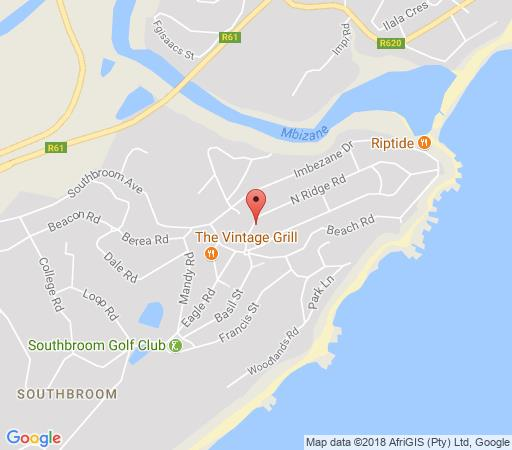 Map Golf and Beach Accommodation  in Southbroom  South Coast (KZN)  KwaZulu Natal  South Africa