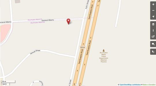 Map Madison House in Randhart  Alberton  Ekurhuleni (East Rand)  Gauteng  South Africa