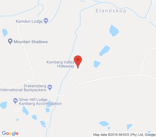 Map Kingfisher Cottage in Kamberg  Central Drakensberg  Drakensberg (KZN)  KwaZulu Natal  South Africa