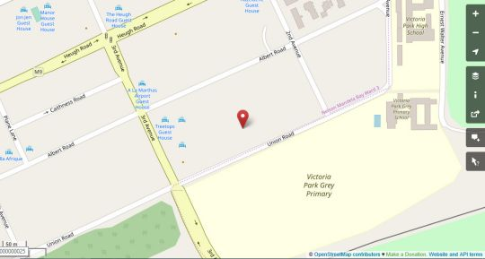 Map Field\'s Rest in Walmer  Port Elizabeth  Cacadu (Sarah Baartman)  Eastern Cape  South Africa