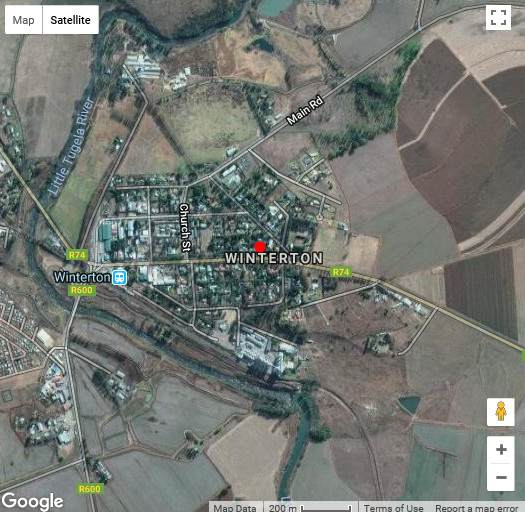 Map Winterton Accommodation in Winterton  Central Drakensberg  Drakensberg (KZN)  KwaZulu Natal  South Africa