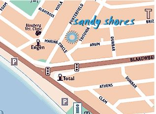 Map Sandyshores in Bloubergstrand  Blaauwberg  Cape Town  Western Cape  South Africa