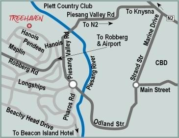 Map Treehaven in Plettenberg Bay  Garden Route  Western Cape  South Africa