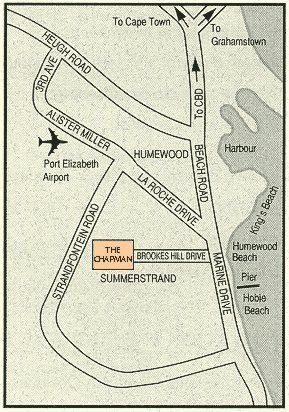 Map Chapman Hotel & Conference Centre in Humewood  Port Elizabeth  Cacadu (Sarah Baartman)  Eastern Cape  South Africa