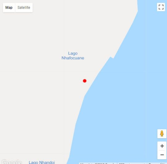 Map Pura Vida Lodge in Morrumbene  Inhambane  Mozambique