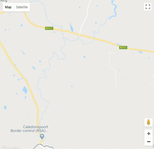 Map Blackwoods Farm Cottage in Fouriesburg  Thabo Mofutsanyana  Free State  South Africa