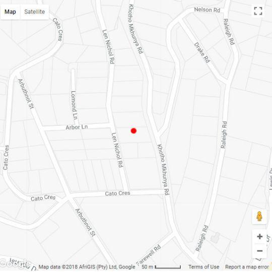 Map Palm Lodge in Amanzimtoti  South Coast (KZN)  KwaZulu Natal  South Africa