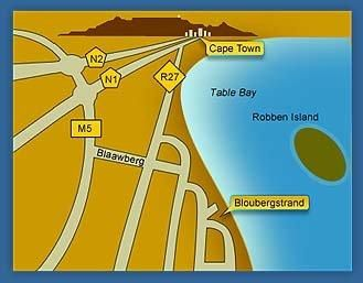 Map Blouberg Manor Guest House & Spa in Bloubergstrand  Blaauwberg  Cape Town  Western Cape  South Africa