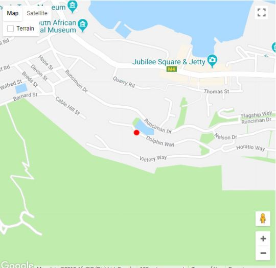 Map Dolphin Cottage in Simon's Town  False Bay  Cape Town  Western Cape  South Africa