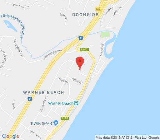 Map Algarve - Sea Views  in Warner Beach  South Coast (KZN)  KwaZulu Natal  South Africa