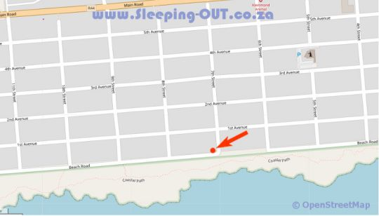 Map 96 Beach Road in Kleinmond  Overberg  Western Cape  South Africa