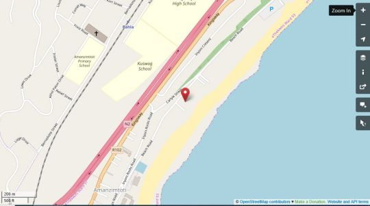 Map Amanzimtoti Family Apartment in Amanzimtoti  South Coast (KZN)  KwaZulu Natal  South Africa