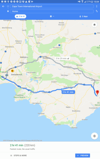 Map Melk Houte Bosch Guest Farm in Swellendam  Overberg  Western Cape  South Africa