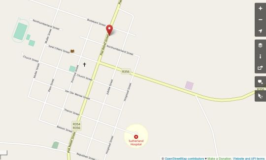 Map Perlman House in Sutherland  Hantam Karoo  Northern Cape  South Africa
