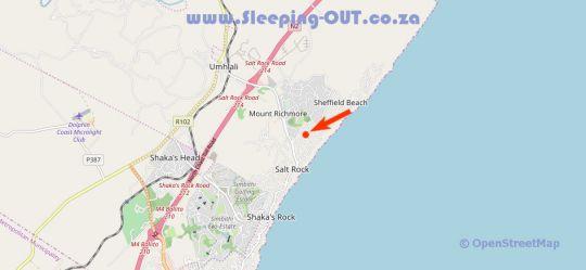 Map Kingfisher By The Sea in Salt Rock  North Coast (KZN)  KwaZulu Natal  South Africa