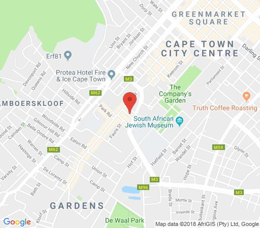 Map Polana Court 12  in Gardens  City Bowl  Cape Town  Western Cape  South Africa