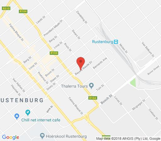Map Rustenburg Palm Lodge in Rustenburg  Bojanala  North West  South Africa