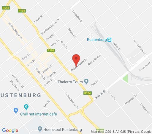 Map Rustenburg Palm Lodge in Rustenburg  Bojanala  North West  Südafrika