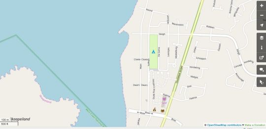 Map Sandra\'s Guest House in Langebaan  West Coast (WC)  Western Cape  South Africa