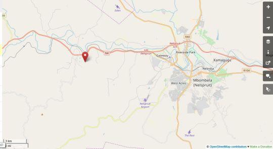 Map Almar View Guest House in Alkmaar  Lowveld  Mpumalanga  Südafrika