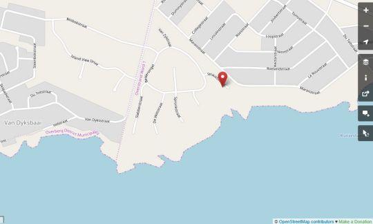 Map Villa Jonde in Gansbaai  Overberg  Western Cape  South Africa