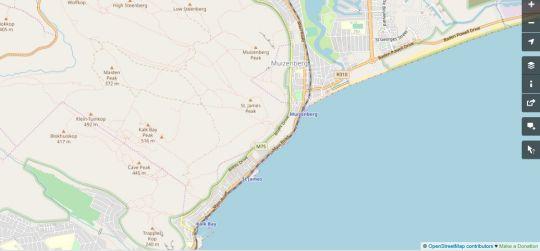 Map Regal Loft Muizenberg East Beach in Muizenberg  False Bay  Cape Town  Western Cape  South Africa
