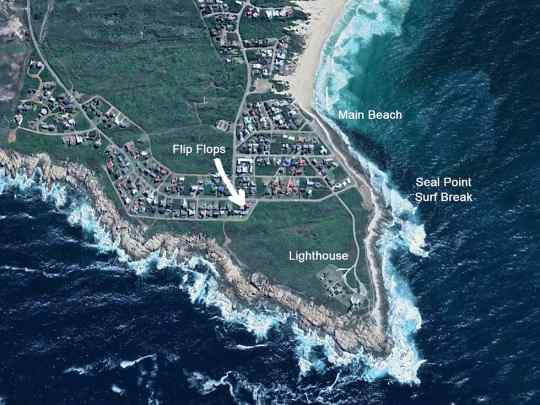 Map Flip Flops Cottage in Cape St. Francis  Cacadu (Sarah Baartman)  Eastern Cape  South Africa
