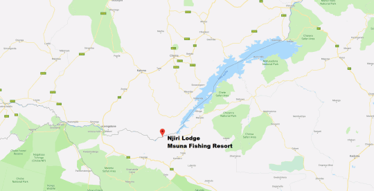 Map Njiri Lodge in Zambezi River  Livingstone  Zambia