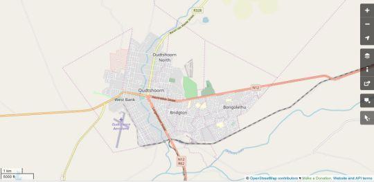 Map Oriental B&B in Oudtshoorn  Klein Karoo  Western Cape  Südafrika