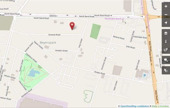 Map Celtis Lane Guest House in Boksburg  Ekurhuleni (East Rand)  Gauteng  South Africa