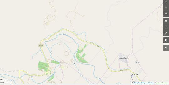 Map Roodegrond RivierKamp in Patensie  Cacadu (Sarah Baartman)  Eastern Cape  South Africa