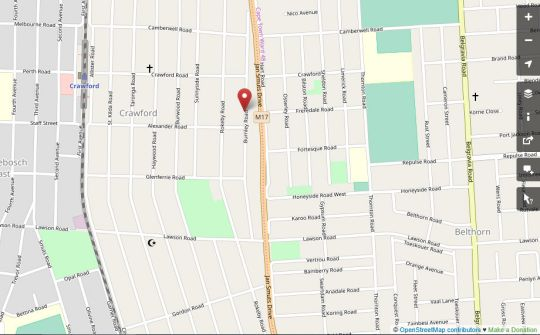 Map Camdene Guest House S/C Apartments and B&B Rooms in Crawford  Southern Suburbs (CPT)  Cape Town  Western Cape  South Africa