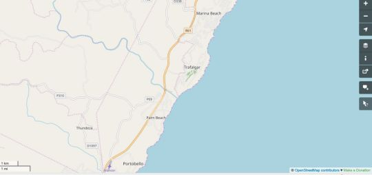 Map Kingfisher Lakeside Retreat in Southbroom  South Coast (KZN)  KwaZulu Natal  South Africa