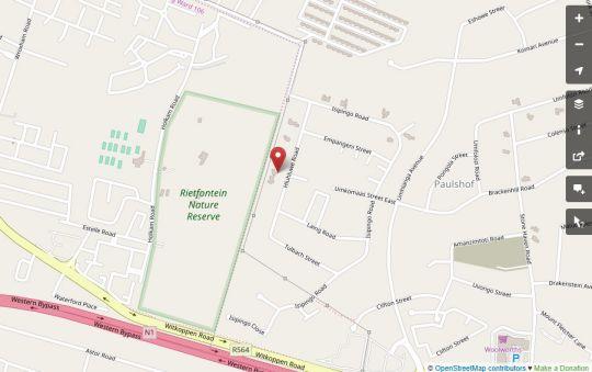 Map Paulshof Guesthouse in Paulshof  Sandton  Johannesburg  Gauteng  South Africa
