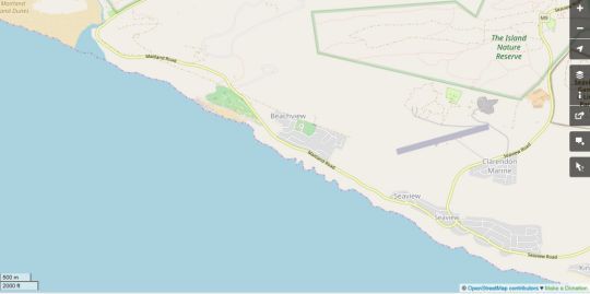Map Seasideescape in Beachview  Port Elizabeth  Cacadu (Sarah Baartman)  Eastern Cape  South Africa