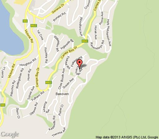 Map African Dreams Guest House in Camps Bay  Atlantic Seaboard  Cape Town  Western Cape  South Africa