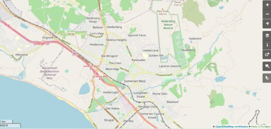 Map Go2 Places in Somerset West  Helderberg  Western Cape  South Africa
