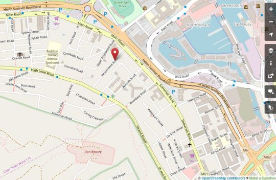 Map Cascades 507 in Green Point  Atlantic Seaboard  Cape Town  Western Cape  South Africa